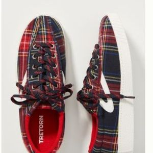 Tretorn Plaid Low Top Sneaker Shoes Women's 6.5